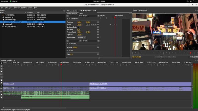 Olive – Software EDITING VIDEO Terbaik 2019 Youtuber dan Vlogger mirip Adobe Premiere