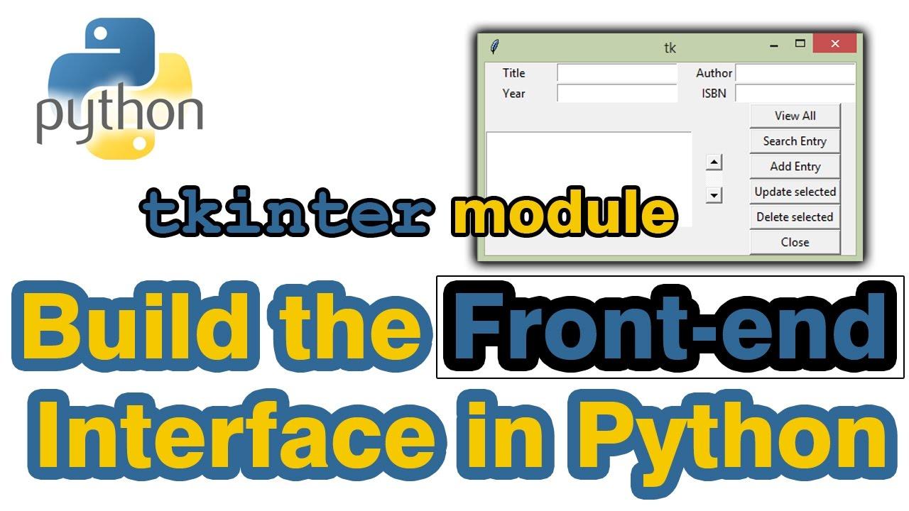 Framework yang digunakan untuk membuat gui dengan python